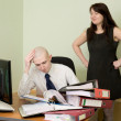 Royalty-Free Stock Photo: Bookkeeper and the secretary