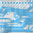 Blue abstract circuit board in hi-tec — Stock Photo #2269874