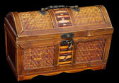 Wooden ancient chest — Stock Photo