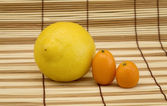 Lemon and kumquat — Stock Photo