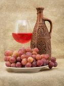 Bright still life with wine — Stock Photo