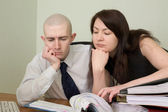 účetní, sekretářka na pracoviště — Stock fotografie