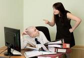簿記係、秘書、職場で — ストック写真