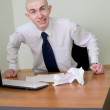 Emotional manager at office — Stock Photo #2270072