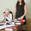 Bookkeeper, secretary on a workplace — Stock Photo #2270121