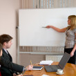 Young woman to speak at a meeting — Stock Photo #2271516