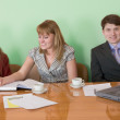 Business team sits at the table — Stock Photo #2271561