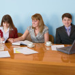 Royalty-Free Stock Photo: Business team sits at the table