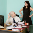Stock Photo: Bookkeeper, secretary on workplace