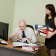 Stock Photo: Bookkeeper and secretary on a workplace