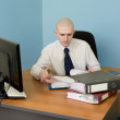 Stock Photo: Bookkeeper on workplace at office
