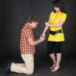 Young woman to shake one's fist — Stock Photo #2277109