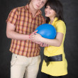Royalty-Free Stock Photo: Pair of lovers and balloon