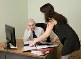 Bookkeeper and the secretary — Foto Stock