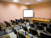 Interior of a conference hall in pink — Stock Photo