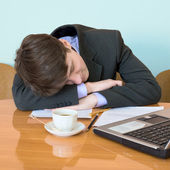 Businessman has fallen asleep — Stock Photo