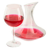 Decanter and goblet — Stock Photo