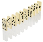 Bones of dominoes — Stock Photo