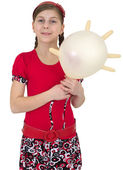 Young girl with balloon — Stock Photo
