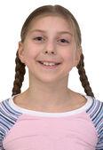 Portrait smiling girl — Stock Photo