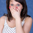 Royalty-Free Stock Photo: Woman to be open-mouthed with surprise