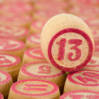 Counter of a bingo with number thirteen — Stock Photo #2282202