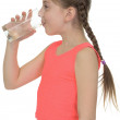 Stock Photo: Girl drinks water from glass