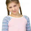 Wrinkled girl in a T-shirt — Stock Photo
