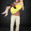 Man holds the girlfriend on hands — Stockfoto