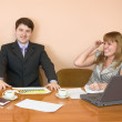 Business sits at the table — Stock Photo #2285771