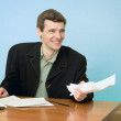 Director on a workplace with a crushed paper — Stock Photo #2285794