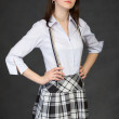 Proud young girl in a skirt — Stock Photo