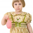 Sad very little girl — Stock Photo