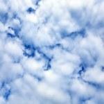 Постер, плакат: Cloudy blue sky zenith