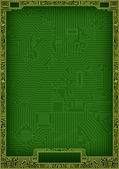 Hi-tech abstract circuit board blank frame — Stock Photo