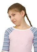 Girl make a wry face — Stock Photo