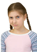 Skeptical teenager girl — Stock Photo