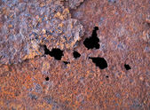 Steel rotten sheet with corrosion — Stock Photo