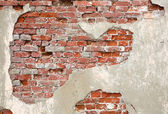 Old red grunge brick wall — Stock Photo