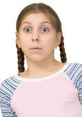 驚くことに女の子 — ストック写真