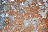 Rusty old metal floor and glass — Stock Photo