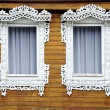 Two old decorated windows — Stock Photo