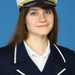 Portrait of the girl - captain — Stock Photo #2301108