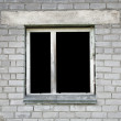 Royalty-Free Stock Photo: Dark window of the thrown old building