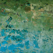 Stock Photo: Surface of old decayed color wall