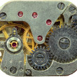 macrophoto of old clockwork background — Stock Photo