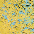 Yellow doncrete painted old wall texture — Stock Photo