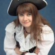 Portrait of pirate woman in hat — Stock Photo #2306096