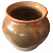 Big old clay pot isolated — Stock Photo