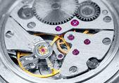Ancient metal clockwork close-up — Stock Photo